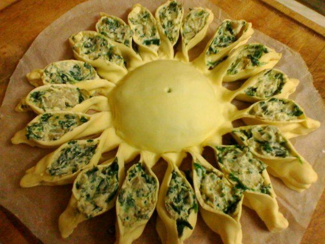 Torta girasole carciofi e spinaci ricetta facile
