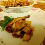 Coniglio al forno con patate arrosto,il grande classico della domenica italiana