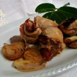 mini rollè di lonza ripieni con scalogno caramellato