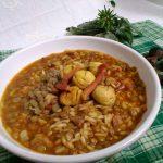 Zuppa di lenticchie e castagne ricetta tradizionale Abruzzese